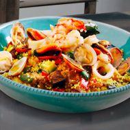 Immagine ricetta Cous-cous con frutti di mare e bottarga